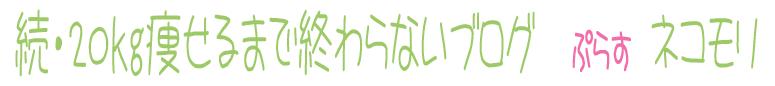 続・20㎏痩せるまで終わらないブログ ぷらす ネコモリ